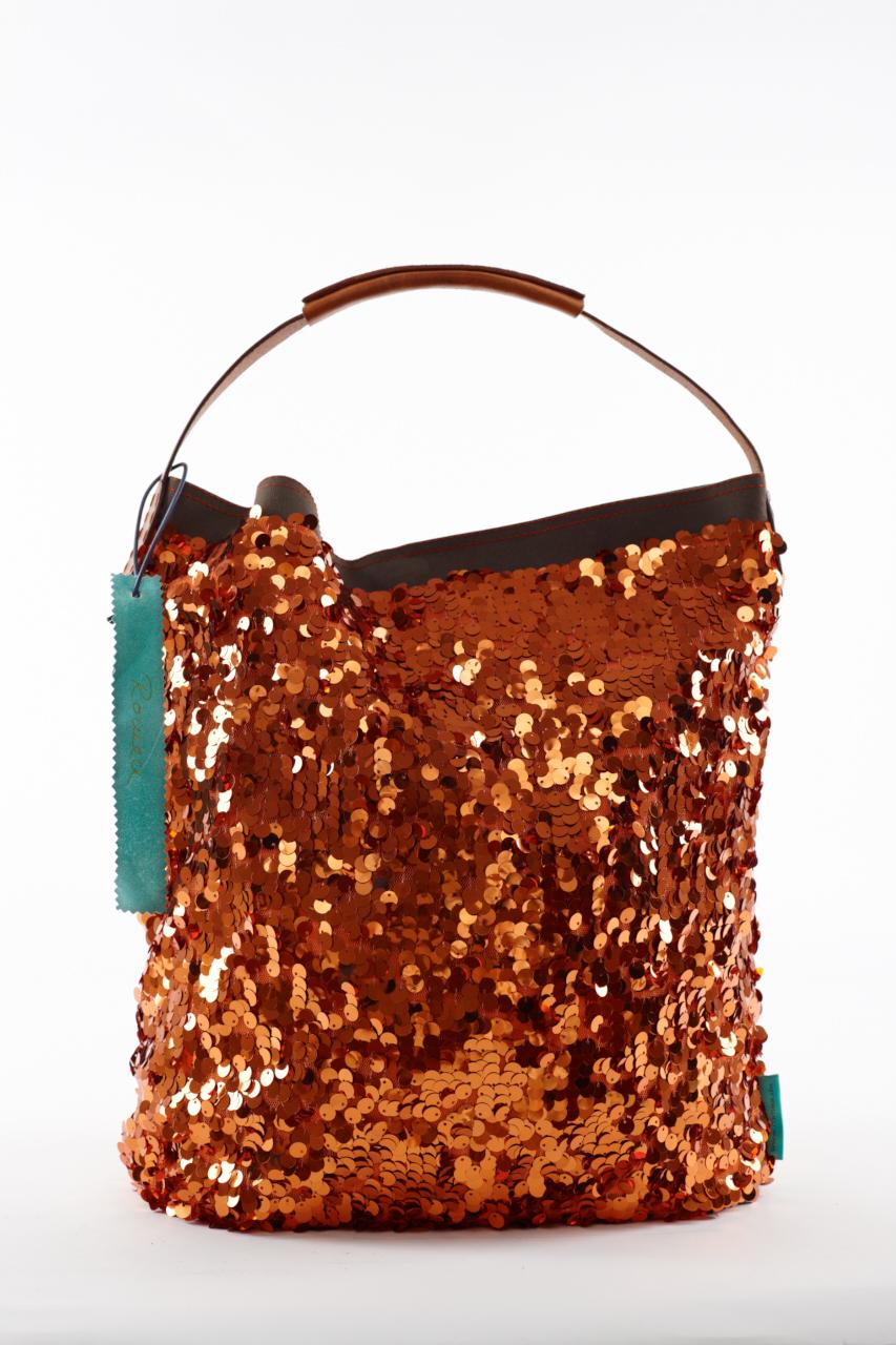 Fashionbag Pailletten burned orange