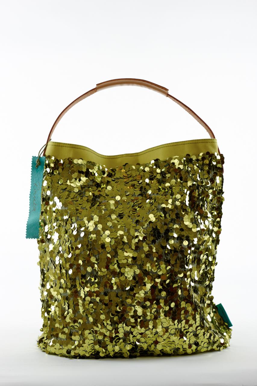 Fashionbag Pailletten pistazie