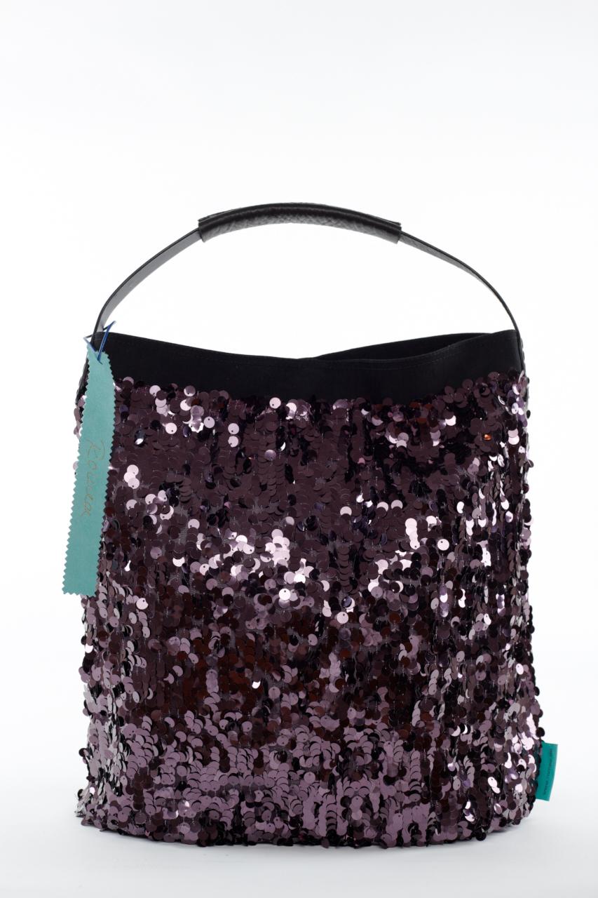 Fashionbag Pailletten purple glänzend