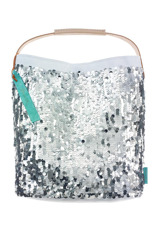 Fashionbag Pailletten silber glänzend