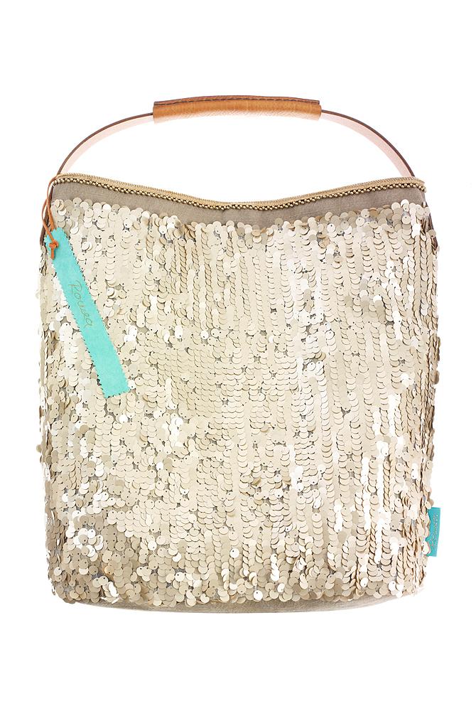 Fashionbag Pailletten gold matt