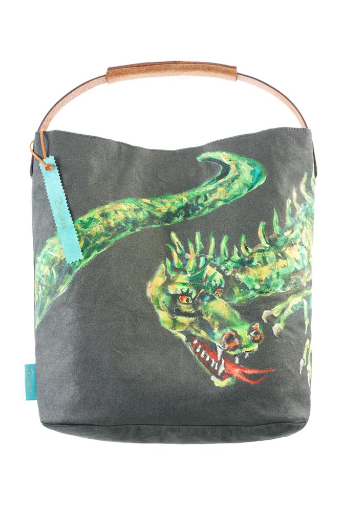 Fashionbag Drache grün