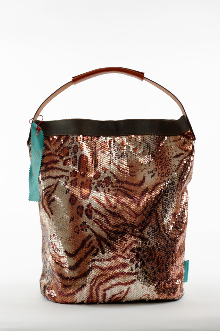 Fashionbag Pailletten Tiger