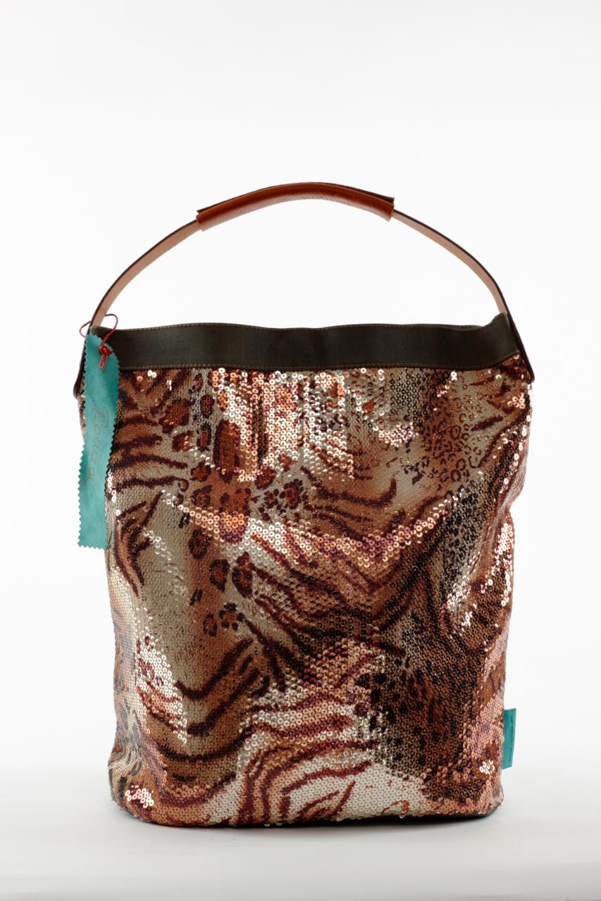 Fashionbag Pailletten Tiger
