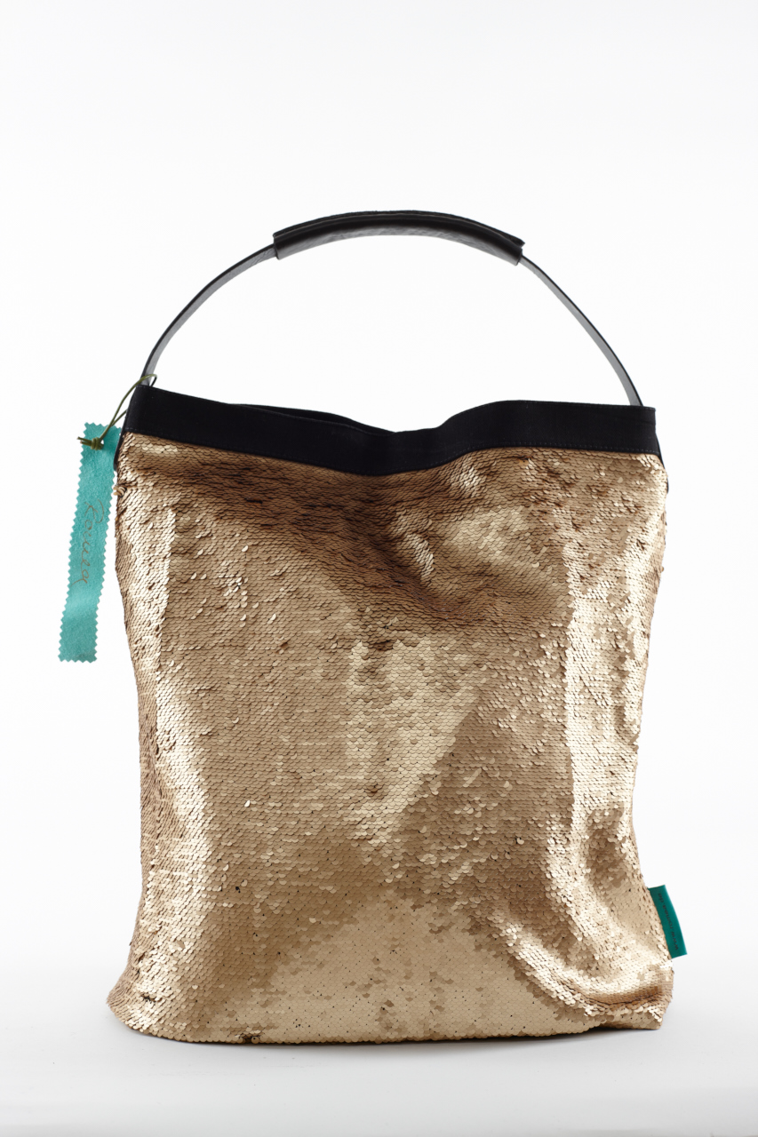Fashionbag Pailletten gold verstrichen